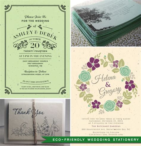 eco paper wedding invitations great ideas for planning eco friendly weddings