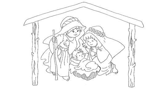 Imagenes Pesebres Navideños Para Colorear | dibujos navide 209 os y pesebres para colorear blog chajari