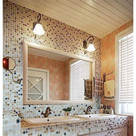 Stone Mosaic Tile Square Patterns Bathroom Wall Marble Square Tile Backsplash