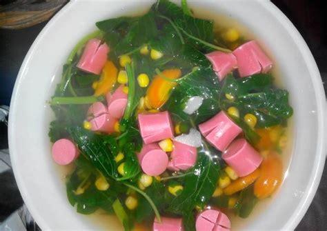 resep sayur bayam sosis resep