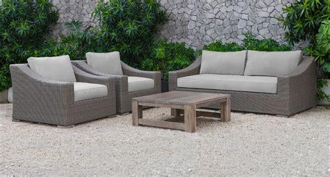 renava palisades outdoor beige wicker sofa set outdoor