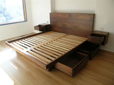 King Bed Frames With Storage Useful King Size Platform Bed Frame With Storage All And Modern Interalle