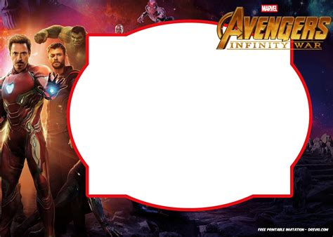 iron birthday card template free infinity wars birthday invitation templates