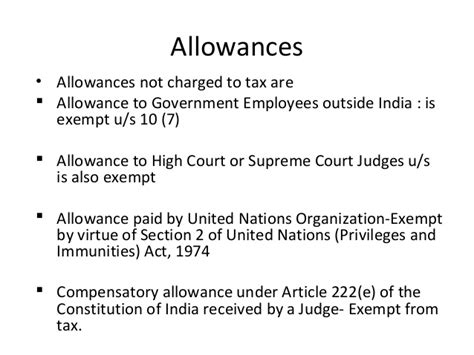 allowances exempt under section 10 lecture 7 salary