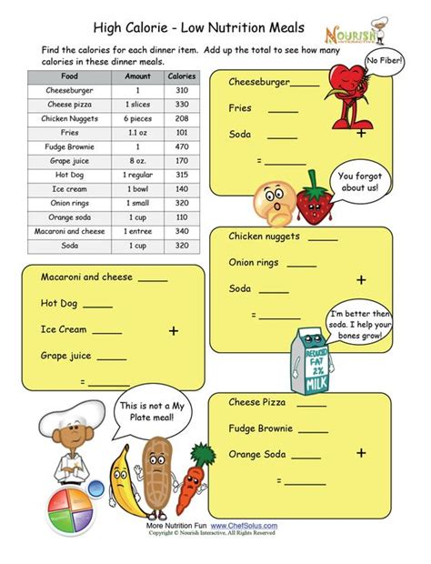 supplement 4 0 pathogenic bacteria worksheet high calorie low nutrition meal math worksheet