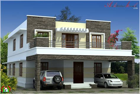 home design builder simple contemporary style kerala house elevation