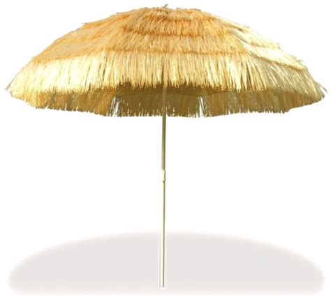 6 luau jumbo grass umbrella hawaiian decoration