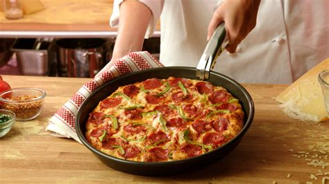 Handmade Pan Pizza - pan pizza recipe dishmaps