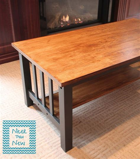 mission style coffee table makeover painted furniture