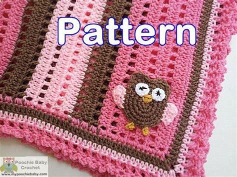crochet pattern owl baby blanket pattern crochet baby owl blanket