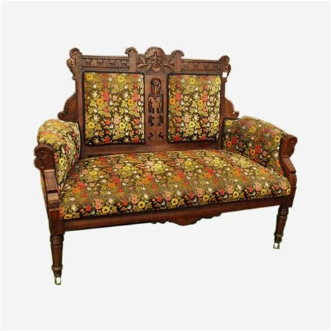 eastlake settee carved eastlake corner chair settee c 1900