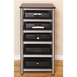 Audio Component Rack Studiotech 6 Shelf Silver Heavy Steel Audio Rack