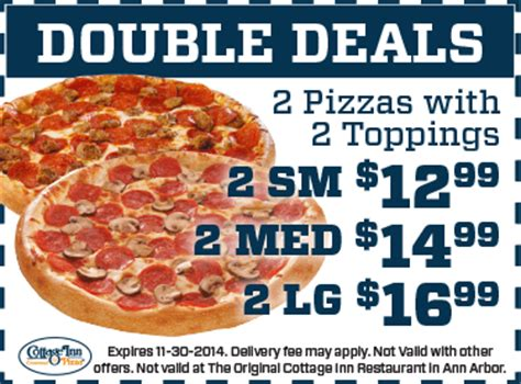 Pizza Cottage Coupons pizza coupons deals cottage inn pizza