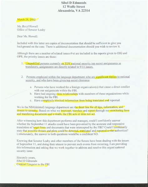 Explanation Letter For Gross Negligence Fbi Letter Of Recommendation