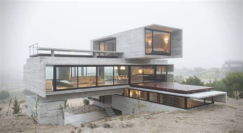 Concrete Block House modern golf retreats concrete block home