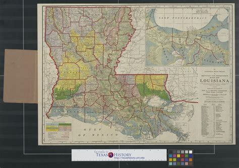 louisiana agriculture map the louisiana state board of agriculture and immigration s