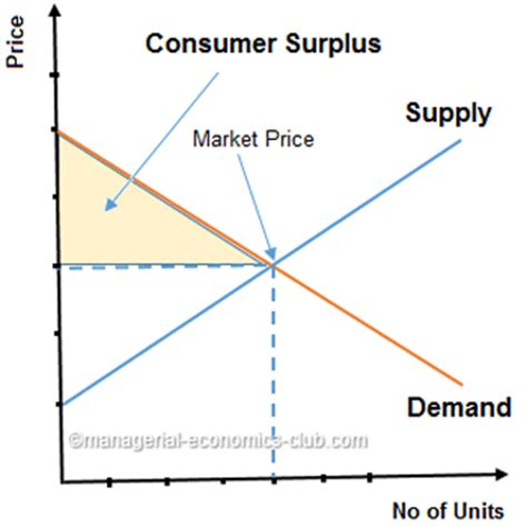 consumer surplus; importance for managers