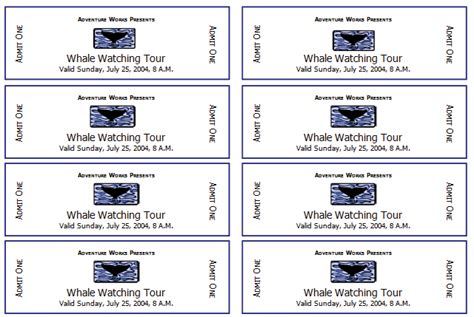 Printable Event Tickets Template Free event ticket template templates for microsoft 174 word