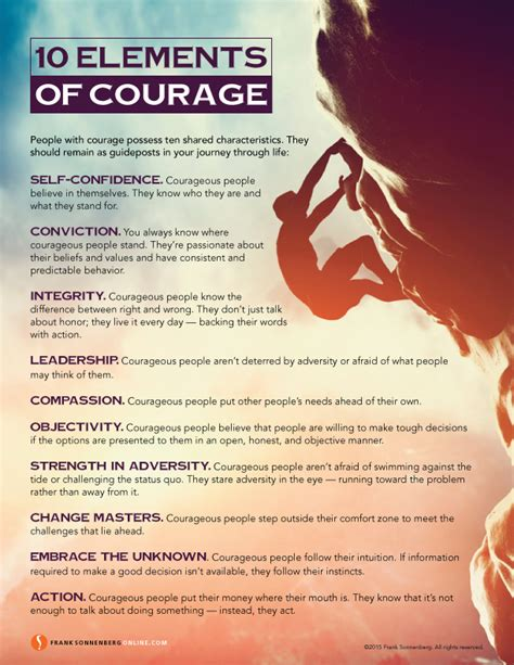 the courage way leading and living with integrity books 10 elements of courage values to live by www