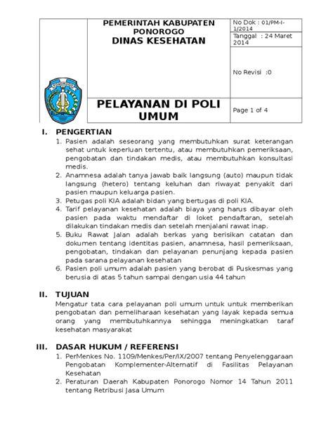 miethäuser sop pelayanan di poli umum