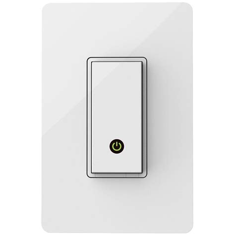 smartphone light switch amazon com wemo light switch wi fi enabled control your