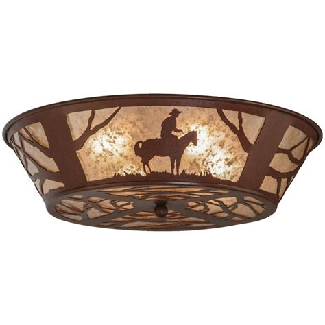 Western Ceiling Light Western Cowboy Ceiling Light