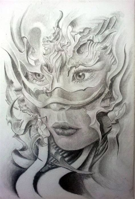 tattoos of faces drawing search drawing ideas