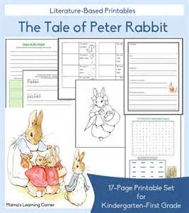 the tale of peter rabbit printables mamas learning corner