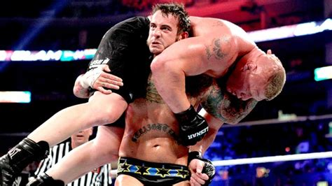 cm best matches brock lesnar def cm no disqualification match