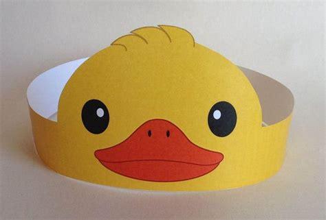 printable paper animal hats duck paper crown printable birthdays happy and ducks