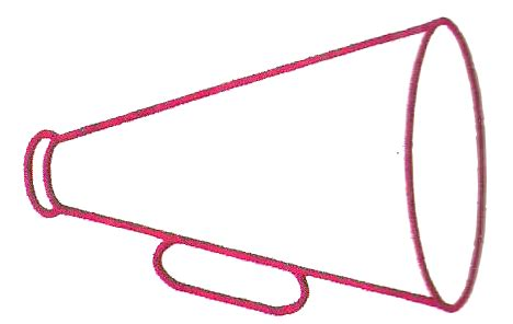 cheer megaphone template cheerleading megaphone template pictures to pin on