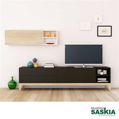 mueble de salon moderno muebles tv sal 243 n moderno muebles saskia en plona