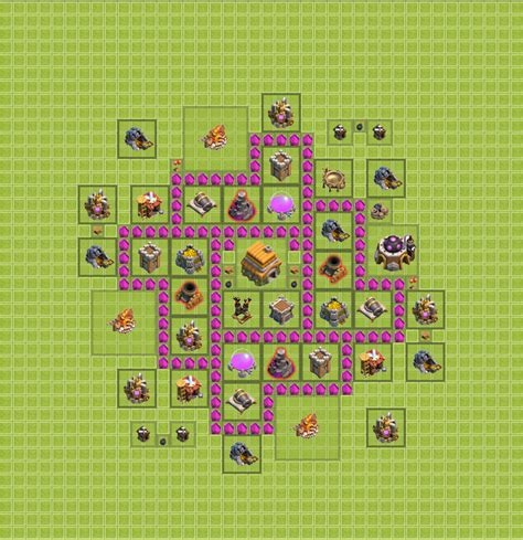 coc map layout th6 layout 3 coc war layouts th6 pinterest layouts