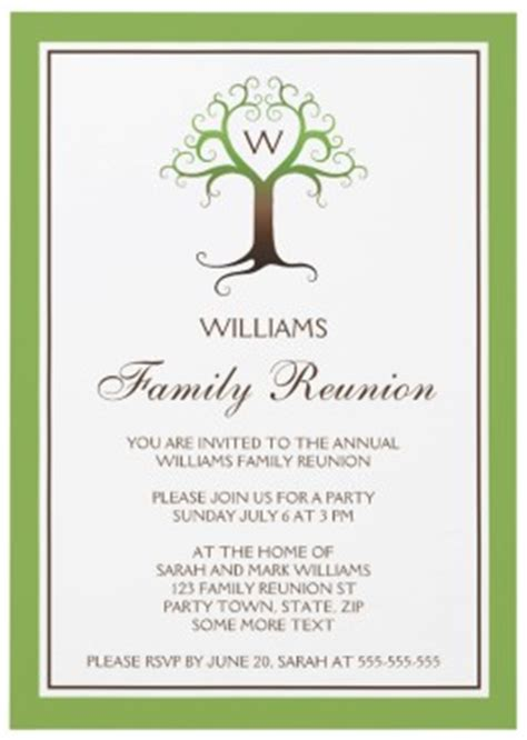 family reunion invitation templates archives