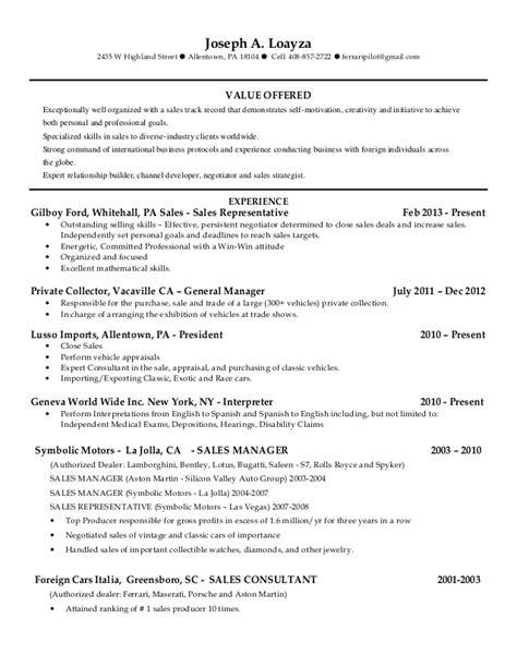 Sle Resume 2015 Sle Of Resume 2015 28 Images Rl Sales Resume 2015 Dave Hermes Resume Sales Resume 2015 Pos