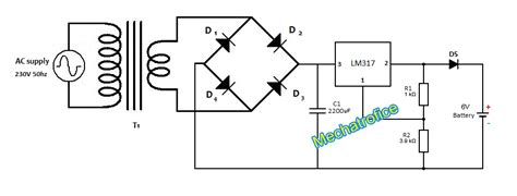 6v battery charger circuit diagram 6v battery charger circuit mechatrofice