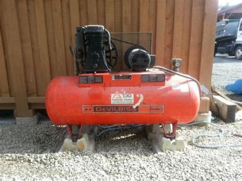 5 hp devilbiss pro air shop compressor outside