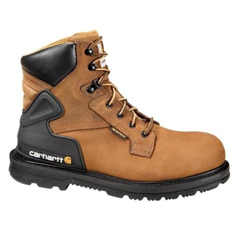 mens work boot reviews carhartt s 6 inch bison waterproof work boot steel