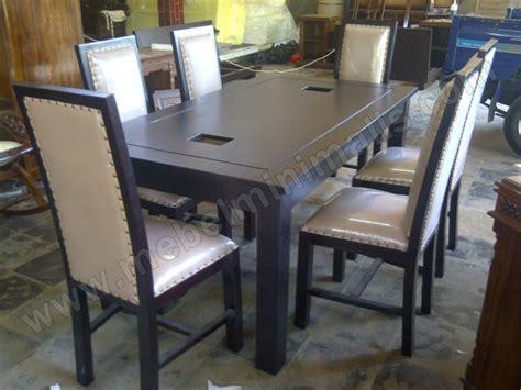 Busa Jok Kursi meja kursi makan busa jok kulit furniture minimalis mebel jati jepara berkualitas