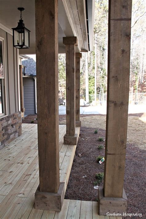 rustic columns southern hospitality home decor daily