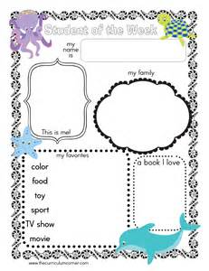 Of The Week Poster Template by Themed Student Of The Week Poster The Kinder Corner