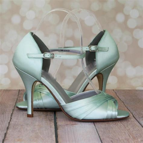 Wedding Shoes Green by Wedding Shoes Mint Green Peep Toe Wedding
