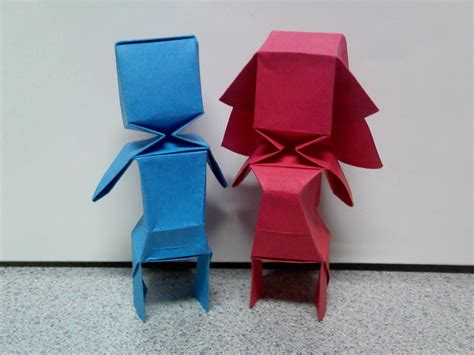 Origami For Boys - origami bloxy boy and by theorigamiarchitect on