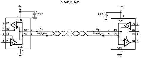 rs422 termination resistor wattage isl8485 rs 485 rs 422 intersil