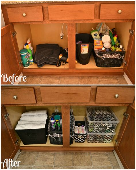 Under Bathroom Sink Storage Ideas | how to organize your bathroom cabinet great tips for
