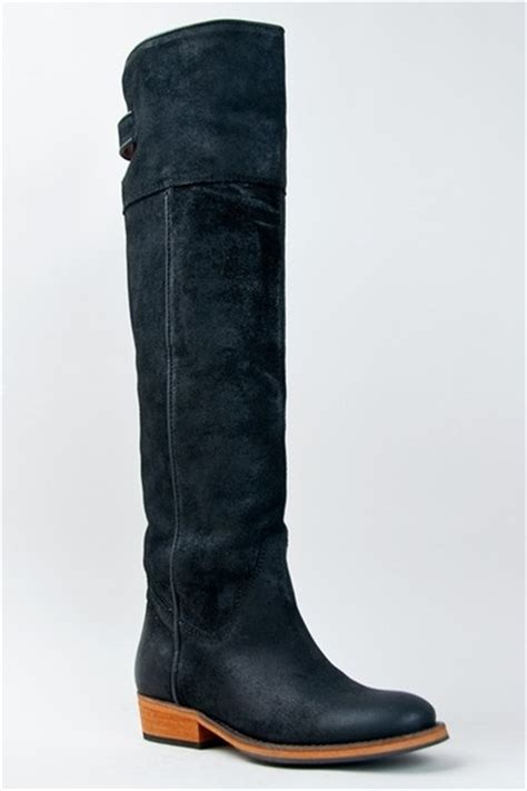 bronx boots quot bronx trem ble distressed knee high boot