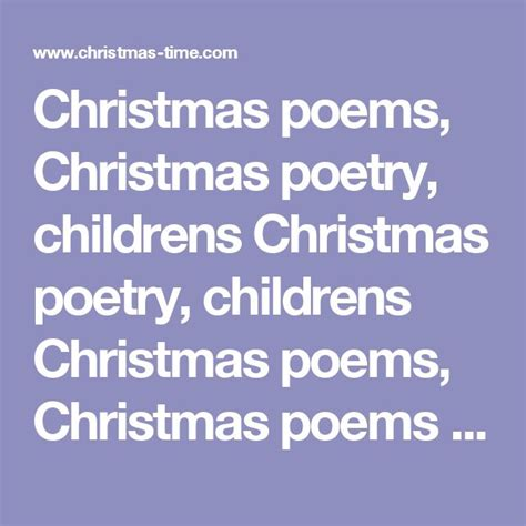 poems about christmas