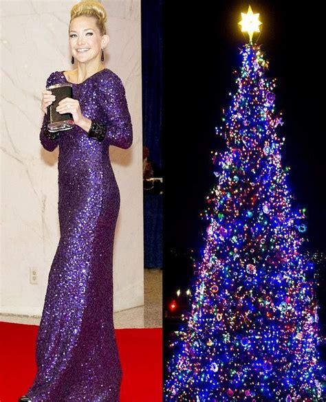 Pohon Natal Ungu foto galeri gaun selebriti mirip pohon natal