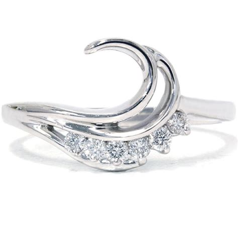 1 4ct curved wedding engagement guard ring band