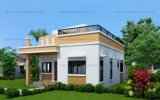 Modern House Roof Maryanne One Storey With Roof Deck Shd 2015025 Pinoy